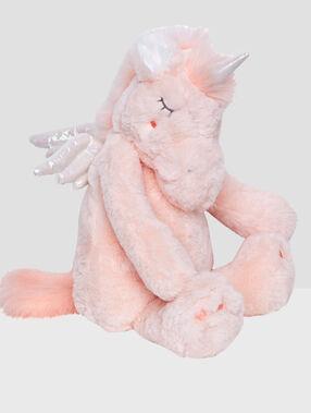 Range-pyjama licorne rosa.