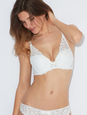 Soutien-gorge n°3 - triangle push up white.