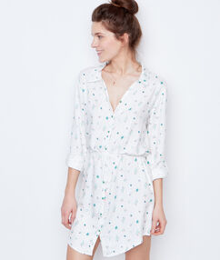 Printed nightdress white.