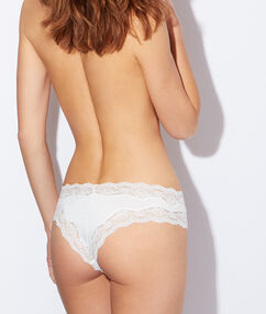 Lace and micro brief white.