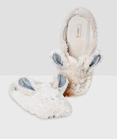 Mules lapins ecru.