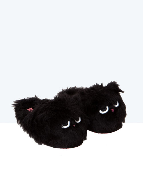Faux fur 3D slippers;${refinementColor}