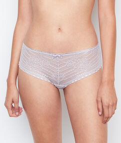 Shorty dentelle taupe.