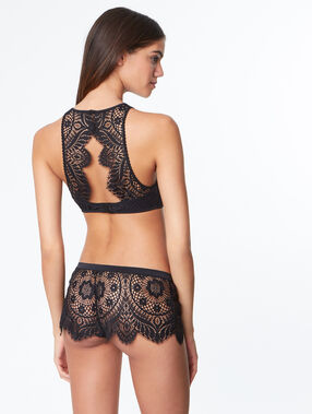 Lace shorts black.