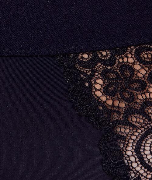 Culotte Taille Haute dentelle et bande élastiqué;${refinementColor}