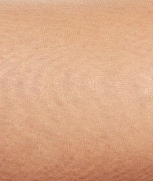Collants voile effet jambes nues, bout ouvert;${refinementColor}