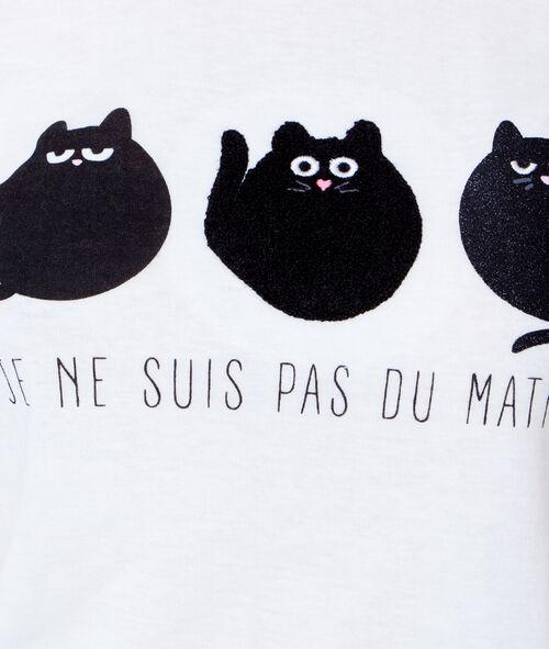 Top imprimé chats;${refinementColor}