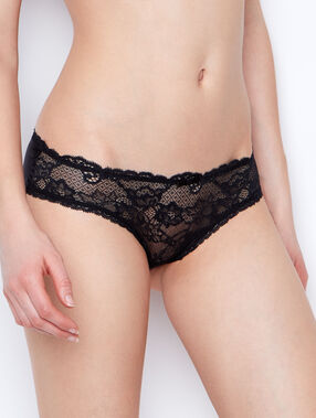 Micro and lace short black.