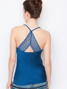 Satine lace top blue.