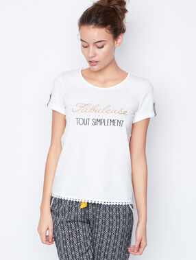 Camiseta estampada blanco.