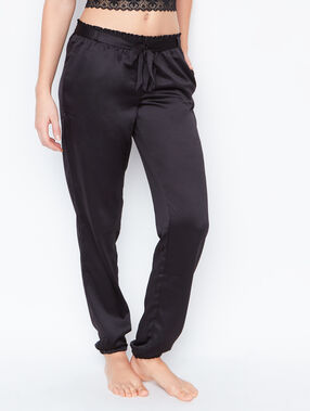 Satine pyjama pants black.