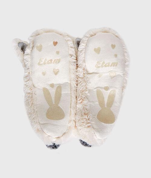 Chaussettes de maison lapin