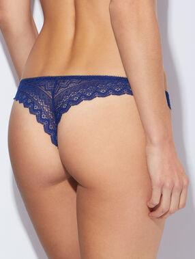Tanga aus spitze blau.