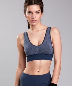Sport bra, minimum support bleu.