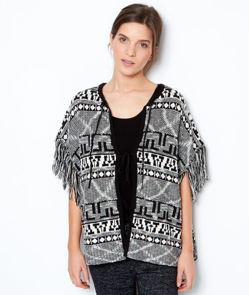 Tribal printed poncho pyjama;${refinementColor}