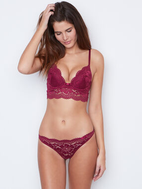 Lace knickers purple.