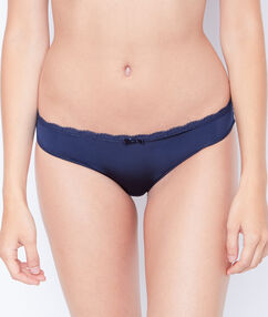 Lace and microfiber brief blue.