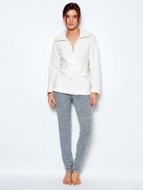 Pyjama jacket white.