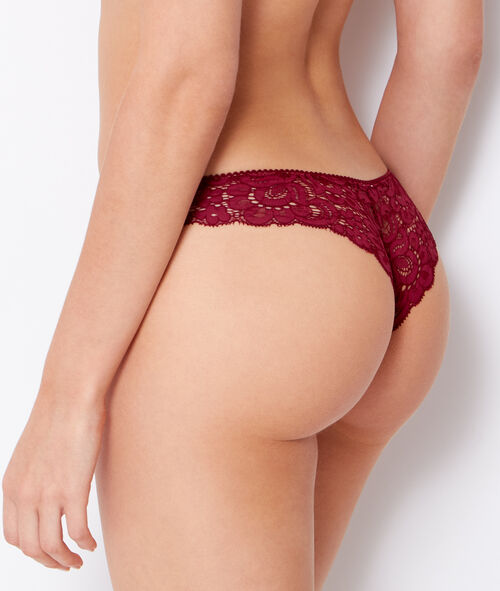 Lace tanga, with knot;${refinementColor}