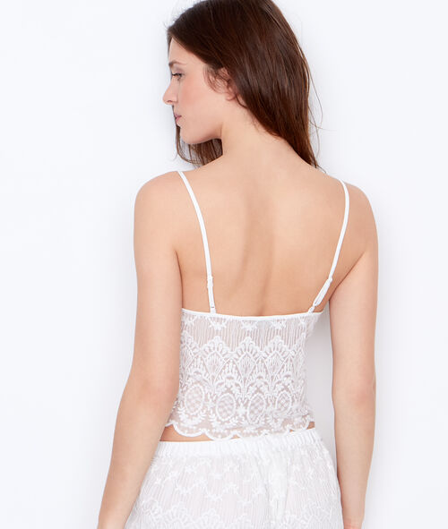 Short embroided top;${refinementColor}