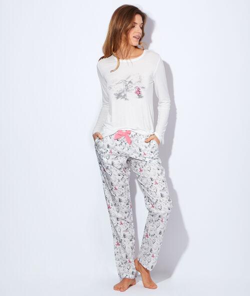 Pyjama 2 pièces imprimé bambi