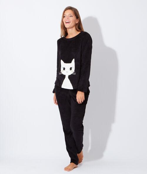 Pyjama 2 pièces polaire chat
