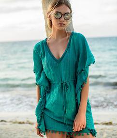 Tunique de plage vert.