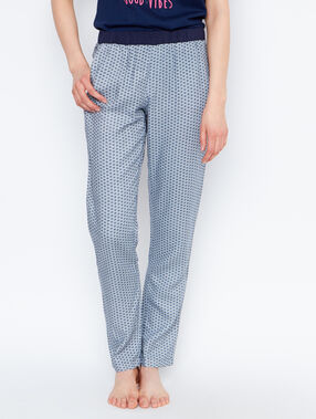 Printed pyjama pants blue.