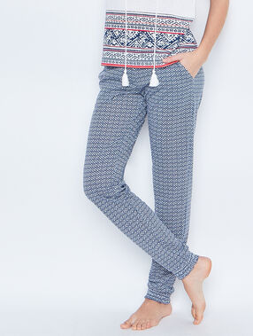 Printed pyjamapants blue.