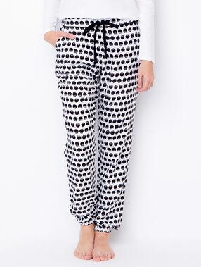 Pyjamahosen schwarz/weiß.
