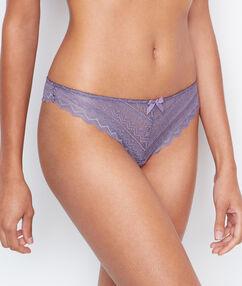 Lace tanga purple.