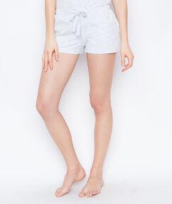 Pantalón corto anudado c.gris.