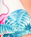 Haut de maillot de bain triangle imprimé tropical