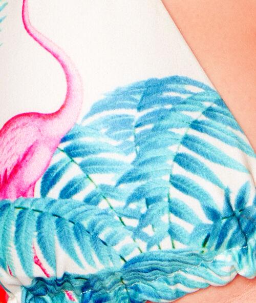 Haut de maillot de bain triangle imprimé tropical;${refinementColor}