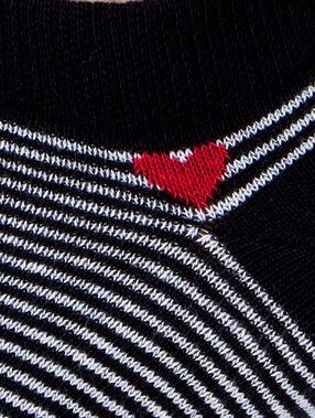 Soquettes à rayures noir.