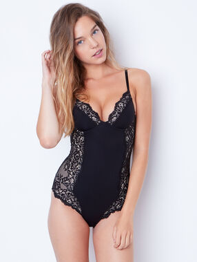 Lace shapewear body black.