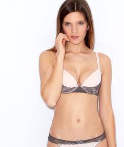 Soutien-gorge magic up® rose / anthracite.