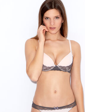 Lace and micro magic up® bra pink / grey.