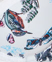 Magic up® plongeant micro imprimée, empiècement dentelle florale