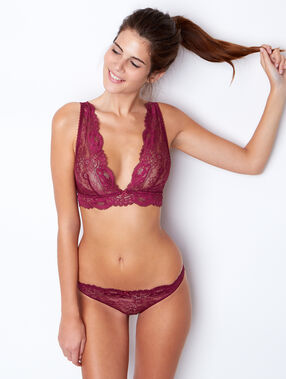 Lace magic up® bra purple.