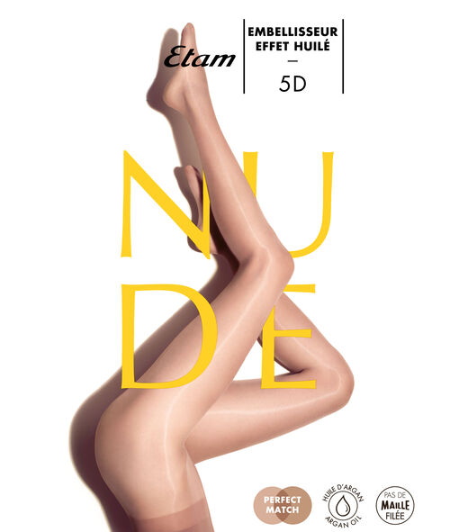 Collants voile 5D, effet huilé jambes nues;${refinementColor}