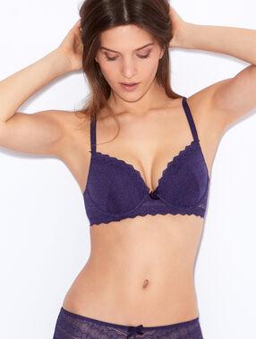 Lace magic up® bra purple.