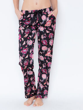 Printed trouser black.
