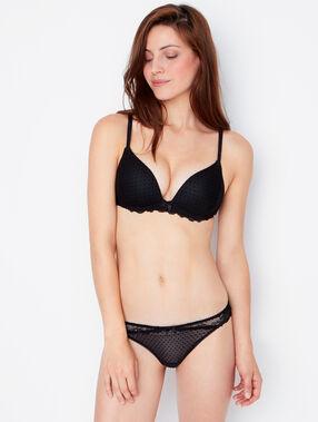 Soft bra : push-up-bh aus spitze schwarz.