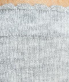 Chaussettes chinées en modal gris.