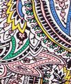 Culotte de bain imprimé cachemire multicolore