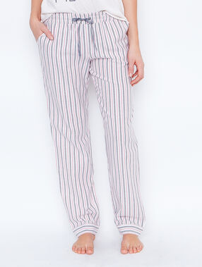 Striped pyjama pants ecru.