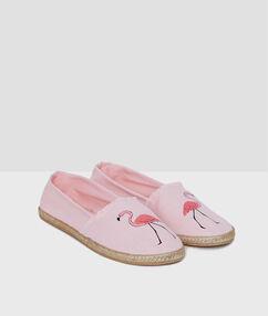 Zapatillas flamencos rosa.