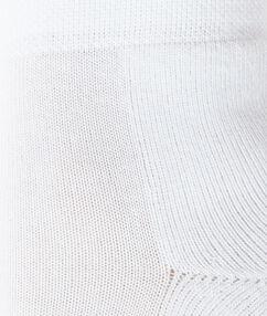 Chaussettes courtes unies blanc.