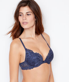 Soutien-gorge n°2 - push up plongeant anthracite.